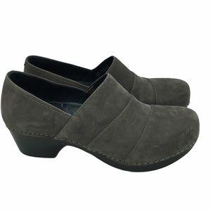 Dansko Tenley Suede Clogs Gray Size 37 (6.5-7)